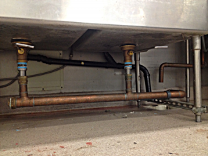 we handle commercial sink piping